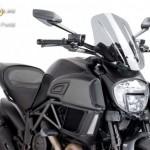 Naked New Generation plexi TOURING MODEL Ducati DIAVEL (2014-2015) kép