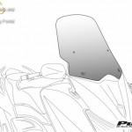 V-Tech Túra plexi Honda Honda FORZA 125 (2015-) kép