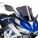 Verseny plexi,Puig Yamaha YZF-R3  2015 kép