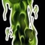 Zöld koponya jobb kép