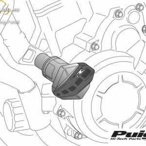 Bukógomba, Puig R12 Yamaha FJR1300AS (2006-2012) kép
